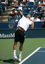 Tommy Haas Serving at the 2008 US Open Royalty Free Stock Photos