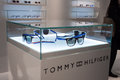 Tommy Hilfiger glasses on display at Mido 2014 in Milan, Italy Stock Image