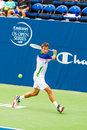Tommy robredo plays center court at the winston salem open in winston salem nc Royalty Free Stock Image