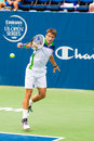 Tommy robredo plays center court at the winston salem open in winston salem nc Stock Photography