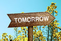 Tomorrow roadsign Royalty Free Stock Photo