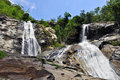 Tone Nga Chang Waterfall in Thailand Royalty Free Stock Photography