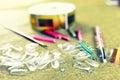 Toned manicure false nails Royalty Free Stock Photo