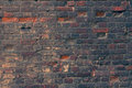 Toned texture of old wall of red bricks dirty Royalty Free Stock Photos