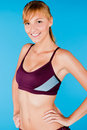 Toned Woman in Sportswear Stock Photo