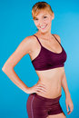 Toned Woman in Sportswear Stock Image