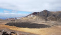 Tongariro Alpine crossing scenery Royalty Free Stock Image