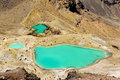 Tongariro Emerald lakes, New Zealand Stock Images