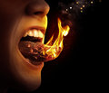 Tongue on fire Royalty Free Stock Photo