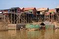 Tonle Sap fishing village Royalty Free Stock Photo
