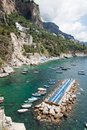Tonnarella beach amalfi coast italy panoramic view of the Stock Image