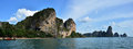 Tonsai bay at krabi thailand ton sai is a beach near in offering a combination of inexpensive accommodation and great rock Stock Photography