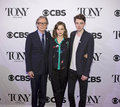 Tony awards meet the nominees press junket actors bill nighy carey mulligan and matthew beard arrive on red carpet for at Stock Photo