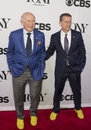Tony awards meet the nominees press junket writer playwright terrence mcnally and tom kirdahy arrive on red carpet for at Royalty Free Stock Photo