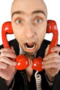 Too Many Phone Calls Royalty Free Stock Photo