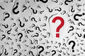 Too many question marks background red mark with Royalty Free Stock Photos