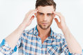 Too much stress. Royalty Free Stock Photo
