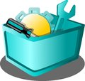 Tool application icon modern graphic cart Royalty Free Stock Photo