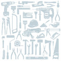 Tool background set of construction tools vector Royalty Free Stock Photos
