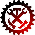 Tool gear logo Royalty Free Stock Photo