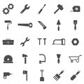 Tool icons on white background stock vector Stock Photos