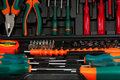 Tool kit in black box Stock Photography