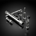 Tool Kit with bolts and screws on black Royalty Free Stock Photo