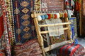 Tool for making carpets carpet shop in cappadocia area Royalty Free Stock Images