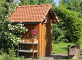 Tool shed in the garden Royalty Free Stock Photo