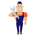 Tool worker illustration of on white background Royalty Free Stock Image