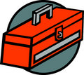 Toolbox vector illustration Royalty Free Stock Image