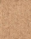 Tooled Leather Print Royalty Free Stock Photo