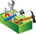 Tools box a vector drawing represents design Stock Photography