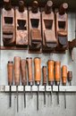 Tools in a carpenter s shop Royalty Free Stock Photography