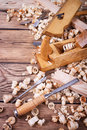 Tools for carpentry work Royalty Free Stock Photo