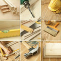 Tools collage Royalty Free Stock Images