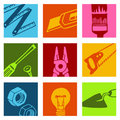 Tools color icons 2 Stock Images