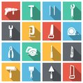 Tools Flat Icons Set Royalty Free Stock Image