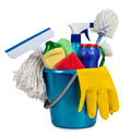 Tools for the guidance of cleanliness and order in house Royalty Free Stock Photo