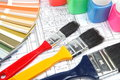 Tools for home renovation on architectural drawing Royalty Free Stock Image