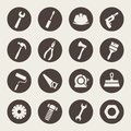 Tools icon set instrument Stock Photos