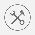 Tools icon vector, solid illustration, pictogram isolated on gray.