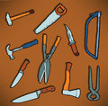 Tools icons Stock Photo