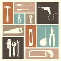 Tools icons over pink background vector illustration Royalty Free Stock Image