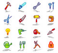 Tools icons set Stock Images