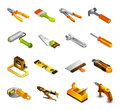 Tools Isometric Icons Royalty Free Stock Photo