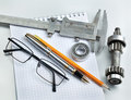 Tools and mechanisms detail Royalty Free Stock Photo