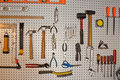 Tools on Pegboard Royalty Free Stock Photo