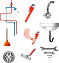 Tools and plumbing equipment Stock Photography