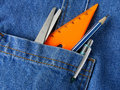 Tools in pocket Stock Image
